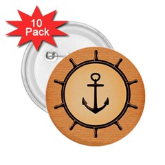 Nautical Anchor Marine Ocean Sea 2 25  Buttons (10 Pack)  by Celenk