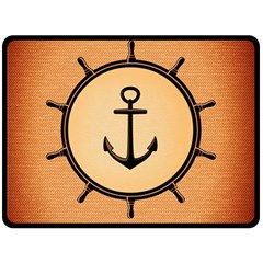Nautical Anchor Marine Ocean Sea Fleece Blanket (large)