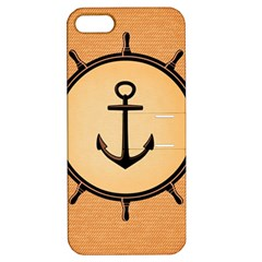 Nautical Anchor Marine Ocean Sea Apple Iphone 5 Hardshell Case With Stand