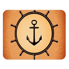 Nautical Anchor Marine Ocean Sea Double Sided Flano Blanket (large)