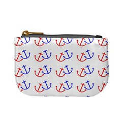 Anchors Nautical Backdrop Sea Nautical Mini Coin Purses by Celenk