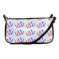 Anchors Nautical Backdrop Sea Nautical Shoulder Clutch Bags by Celenk