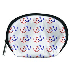 Anchors Nautical Backdrop Sea Nautical Accessory Pouches (medium)  by Celenk