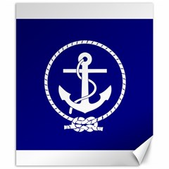 Anchor Flag Blue Background Canvas 8  X 10
