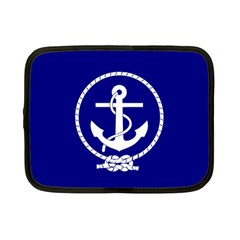 Anchor Flag Blue Background Netbook Case (small)  by Celenk