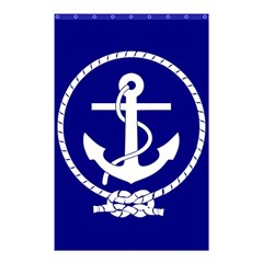 Anchor Flag Blue Background Shower Curtain 48  X 72  (small)