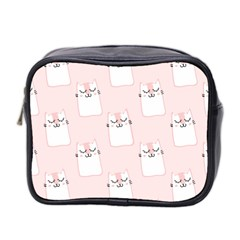 Pattern Cat Pink Cute Sweet Fur Mini Toiletries Bag 2 Side by Celenk