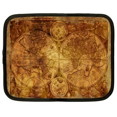 Map Of The World Old Historically Netbook Case (xxl)