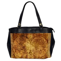 Map Of The World Old Historically Office Handbags (2 Sides)  by Celenk