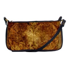 Map Of The World Old Historically Shoulder Clutch Bags