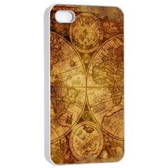 Map Of The World Old Historically Apple Iphone 4/4s Seamless Case (white)
