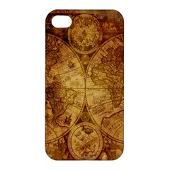 Map Of The World Old Historically Apple Iphone 4/4s Premium Hardshell Case by Celenk