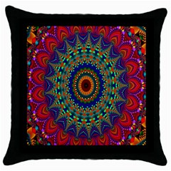 Kaleidoscope Mandala Pattern Throw Pillow Case (black)
