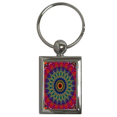Kaleidoscope Mandala Pattern Key Chains (rectangle)  by Celenk