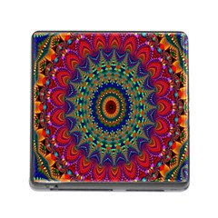 Kaleidoscope Mandala Pattern Memory Card Reader (square)