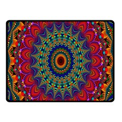 Kaleidoscope Mandala Pattern Fleece Blanket (small) by Celenk
