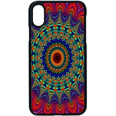 Kaleidoscope Mandala Pattern Apple Iphone X Seamless Case (black)
