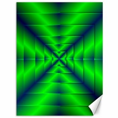 Shiny Lime Navy Sheen Radiate 3d Canvas 36  X 48   by Celenk