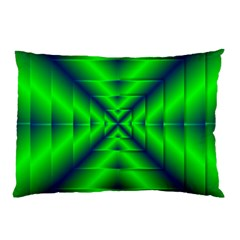 Shiny Lime Navy Sheen Radiate 3d Pillow Case (two Sides)