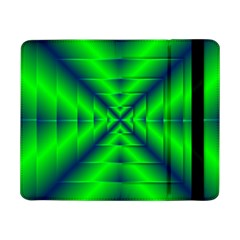 Shiny Lime Navy Sheen Radiate 3d Samsung Galaxy Tab Pro 8 4  Flip Case by Celenk