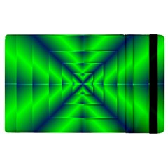 Shiny Lime Navy Sheen Radiate 3d Apple Ipad Pro 12 9   Flip Case