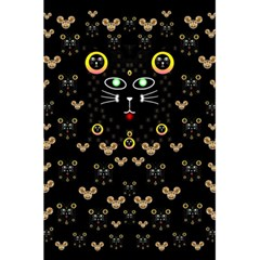 Merry Black Cat In The Night And A Mouse Involved Pop Art 5 5  X 8 5  Notebooks by pepitasart
