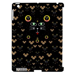 Merry Black Cat In The Night And A Mouse Involved Pop Art Apple Ipad 3/4 Hardshell Case (compatible With Smart Cover) by pepitasart