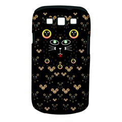 Merry Black Cat In The Night And A Mouse Involved Pop Art Samsung Galaxy S Iii Classic Hardshell Case (pc+silicone) by pepitasart