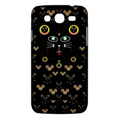 Merry Black Cat In The Night And A Mouse Involved Pop Art Samsung Galaxy Mega 5 8 I9152 Hardshell Case  by pepitasart