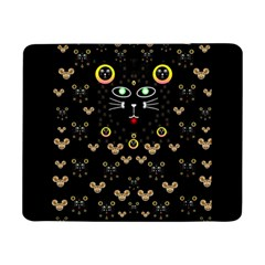 Merry Black Cat In The Night And A Mouse Involved Pop Art Samsung Galaxy Tab Pro 8 4  Flip Case by pepitasart