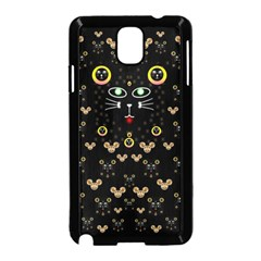 Merry Black Cat In The Night And A Mouse Involved Pop Art Samsung Galaxy Note 3 Neo Hardshell Case (black) by pepitasart