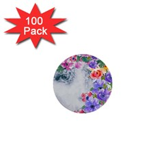 Flower Girl 1  Mini Buttons (100 Pack)  by 8fugoso