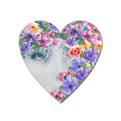 Flower Girl Heart Magnet by 8fugoso