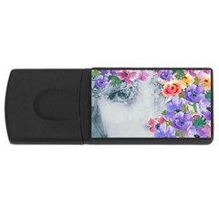 Flower Girl Rectangular Usb Flash Drive by 8fugoso