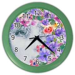 Flower Girl Color Wall Clocks by 8fugoso