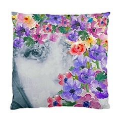 Flower Girl Standard Cushion Case (two Sides) by 8fugoso