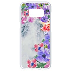 Flower Girl Samsung Galaxy S8 White Seamless Case by 8fugoso