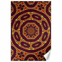 Geometric Tapestry Canvas 24  X 36  by linceazul