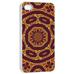 Geometric Tapestry Apple Iphone 4/4s Seamless Case (white) by linceazul