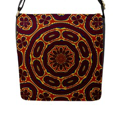 Geometric Tapestry Flap Messenger Bag (l)  by linceazul