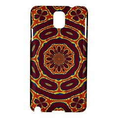 Geometric Tapestry Samsung Galaxy Note 3 N9005 Hardshell Case by linceazul