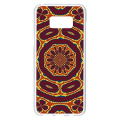Geometric Tapestry Samsung Galaxy S8 Plus White Seamless Case by linceazul