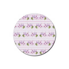 Floral Pattern Rubber Round Coaster (4 Pack)  by SuperPatterns