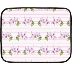 Floral Pattern Fleece Blanket (mini) by SuperPatterns