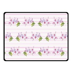 Floral Pattern Fleece Blanket (small) by SuperPatterns