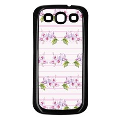 Floral Pattern Samsung Galaxy S3 Back Case (black) by SuperPatterns