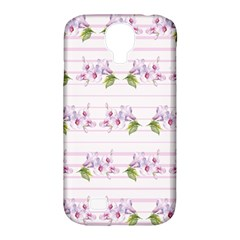 Floral Pattern Samsung Galaxy S4 Classic Hardshell Case (pc+silicone) by SuperPatterns