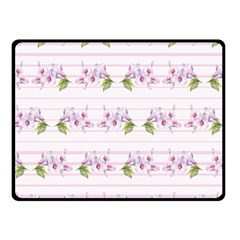 Floral Pattern Double Sided Fleece Blanket (small)  by SuperPatterns
