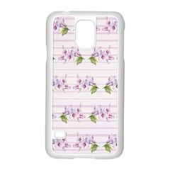 Floral Pattern Samsung Galaxy S5 Case (white) by SuperPatterns