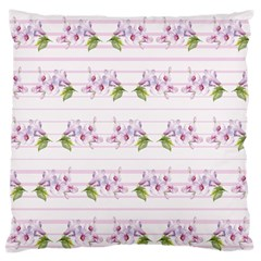 Floral Pattern Large Flano Cushion Case (two Sides) by SuperPatterns